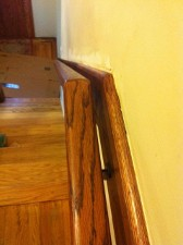 Continuous Railing on Matching Trim Board
