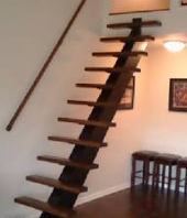 Graceful Center Stringer Designer Staircase
