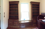 Split Wooden Bookcases