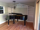 Custom Piano Bookcases